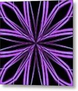 Radioactive Snowflake Purple Metal Print