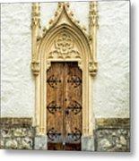 Radovljica Church Door Metal Print
