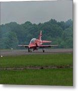 Raf Red Arrow Jet Lands Metal Print