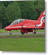 Raf Red Arrows Jet Lands Metal Print