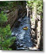 Rafting In A Gorge Metal Print