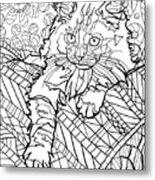 Ragdoll Kitten - Coloring Image Metal Print