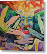 Rage Of Depression Metal Print
