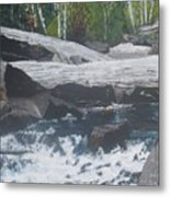 Ragged Falls Metal Print