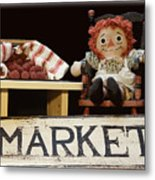 Raggedy Ann Selling Raspberries Metal Print