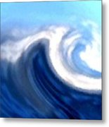 Raging Sea Metal Print