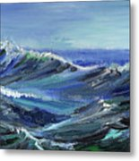 Raging Seas Metal Print