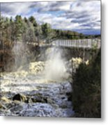 Raging Water Metal Print