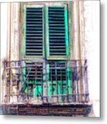 Ragusa Window Metal Print