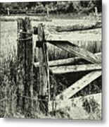 Rail Fence Metal Print