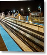 Rail Perspective Metal Print