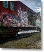Railcar Graffiti Metal Print