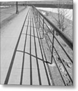 Railings And Shadows Metal Print