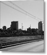 Railroad And The City Metal Print