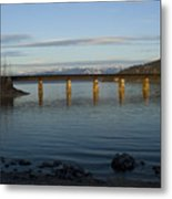 Railroad Bridge Over The Pend Oreille Metal Print