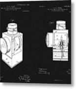 Railroad Lantern Plans Metal Print