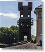 Railroad Lift Bridge 2 C Metal Print