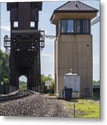 Railroad Lift Bridge2 A Metal Print