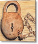 Railroad Lock Metal Print