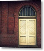 Railroad Museum Door Metal Print
