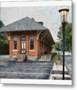 Railroad Station Metal Print
