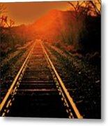 Railroad  Surreal Perspective IIi Metal Print