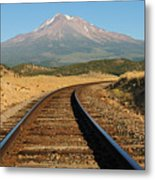 Railroad To The Mountain Metal Print