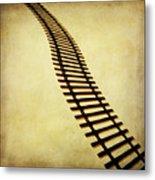 Railway Metal Print by Bernard Jaubert