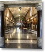 Railway Hall Metal Print