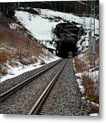 Railway Track Metal Print