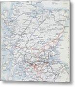 Railways Of Scotland Metal Print