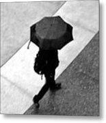Running In The Rain Metal Print