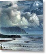 Rain Clearing Kaneohe Bay Metal Print