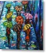 Rain Fantasy Acrylic Painting  Metal Print
