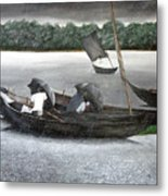 Rain In Bangladesh- An Acrylic Painting Metal Print