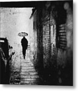 Rain In Berlin Metal Print