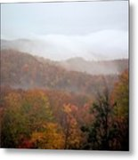 Rain In Smokies Metal Print