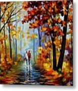 Rain In The Woods Metal Print