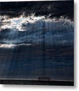 Rain Is Coming To Brighton Metal Print