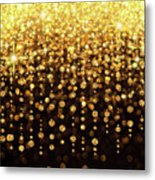 Rain Of Lights Christmas Or Party Background Metal Print
