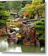 Rain On Kyoto Garden Metal Print