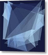 Rain Polygon Pattern Metal Print