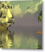 Rain Squall On The Horizon Metal Print by Claude McCoy