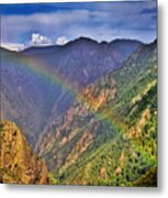 Rainbow Across Canyon Metal Print