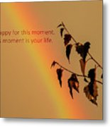 Rainbow And Copper Metal Print
