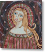 Rainbow Angel Metal Print