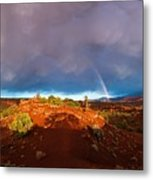 Rainbow Arch Metal Print