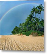 Rainbow At Pipeline, North Shore,  Metal Print