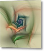 Rainbow Basic Flower Metal Print