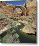 Rainbow Bridge Upstream Metal Print
